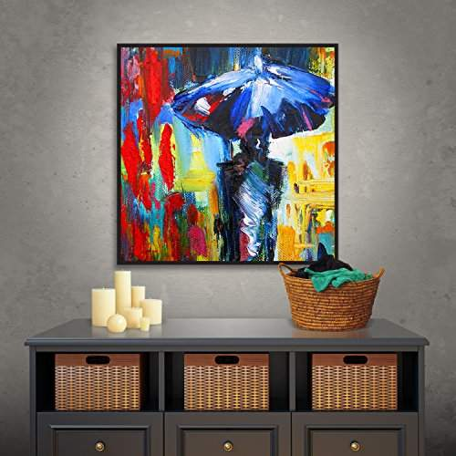 Buy Artwall Susi Franco S Downtown Stroll Gallery Wrapped Floater Framed Canvas 36 By 36 Features Price Reviews Online In India Justdial