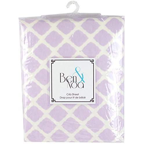 Buy Kushies 100 Premium Soft Cotton Flannel Crib Sheet Made In Canada Lilac Lattice Features Price Reviews Online In India Justdial