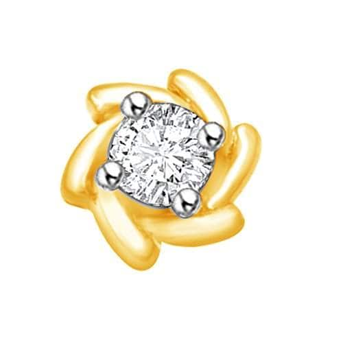 Buy Vijisan Nose Pin Ring Collection 0 14 Ct 18k Yellow Gold