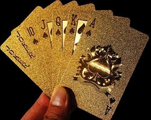 Buy Cindy Amp Will 1pcs 24k Gold Foil Waterproof Pure Golden Pattern Poker Playing Card With Black Storage Bag Features Price Reviews Online In India Justdial