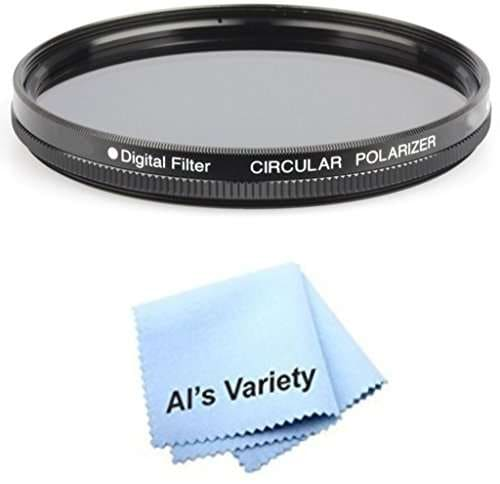 CPL 62mm Circular Polarizer Multicoated Glass Filter Microfiber Cleaning Cloth for Sony Alpha DSLR-A350