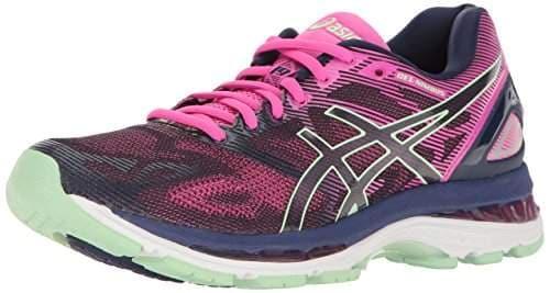 ASICS Women's Gel-Nimbus 19 Running Shoe Indigo Blue/Paradise Green/Pink Glow 10 M US