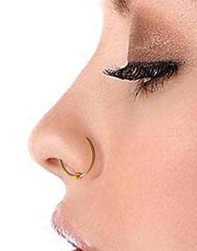 Buy Gandhi Jewellers Shiny Classic Ball Simple Plain Gold Ball Nose Ring Ball Plain Shinny Gold Nose Ring Features Price Reviews Online In India Justdial