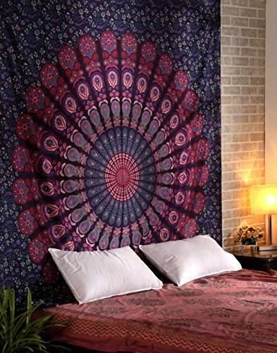Buy Indian Red Tapestry Cotton Designer Home Decor Wall Tapestry 95x85 Wall Hangings Floral Printed By Rajrang Features Price Reviews Online In India Justdial