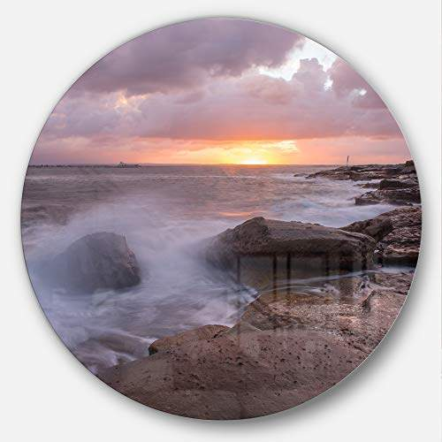 Buy Designart Mt10199 C11 Stormy Waves In Beautiful Australia Beach Seashore Disc 11 X 11 Blue White Features Price Reviews Online In India Justdial