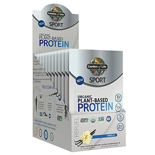 Buy Garden Of Life Sport Organic Plant Based Protein Refuel Vanilla 12 Packets 1 5 Oz 42 G Each Features Price Reviews Online In India Justdial