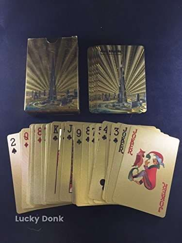 Buy Gold Foil Coated Playing Cards Full Poker Deck Gift Burj Khalifa Dubai Design Free Lucky Donk Sticker Features Price Reviews Online In India Justdial