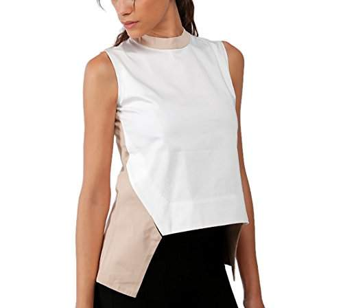 Buy Alex Twenteen Women S Top At3063axs1 White And Beige X Small Features Price Reviews Online In India Justdial