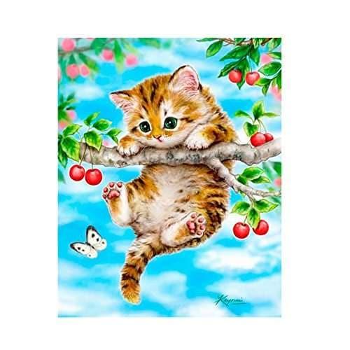 5D Cat Diamond Painting Kits DIY Full Drill Rhinestone Animal Diamond Picture