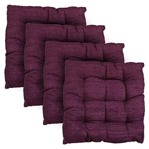 Buy Story Home Best Price Square Chair Pad Seat Cushion Car Pad Office Chair Pad Stool Cushion 4 Pc Combo Corduroy Chair Pad 14 Inch X 14 Inch Burgundy Features Price Reviews