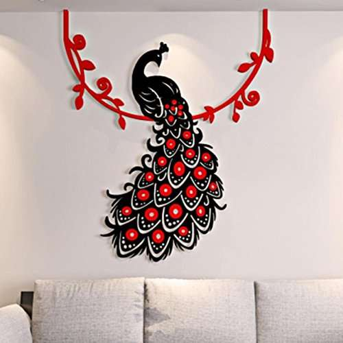 Buy Kakuder Modern Wall Sticker Peacock Removable Grand Mural Stickers Home Decor Accessories For Living Room Happy Sale Ap522 Features Price Reviews Online In India Justdial