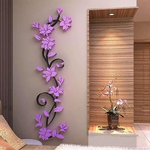 Buy 3d Crystal Wall Stickers Home Bedroom Decoration Wall Stickers Romantic Rose Flower Wall Sticker Removable Decal Room Features Price Reviews Online In India Justdial