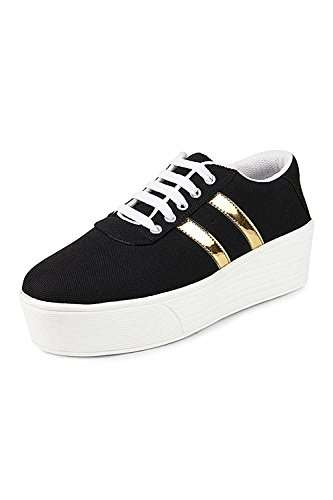 Bella Toes Women's Black Sneakers-8 UK