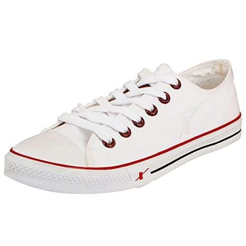 Buy Sparx Men's White Canvas Sneakers