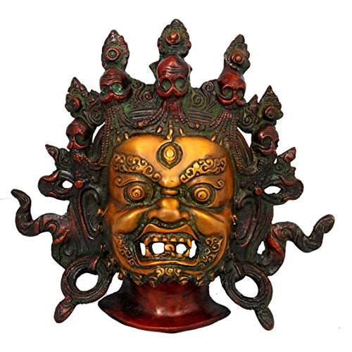Buy Aone India Large Mahakala Wall Hanging Buddhist Protective Mask Antique Finished Brass Nepal Tibet Buddha Bhairav Home Decor Features Price Reviews Online In India Justdial
