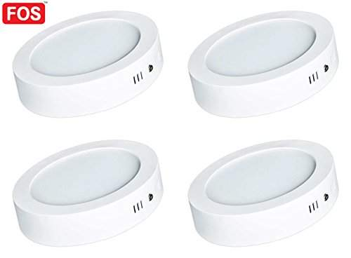 Buy Fos 12w Surface Mount Led Panel Ceiling Light 1200 Lumens Round Neutral White 4000k Pack Of 4 Features Price Reviews Online In India Justdial