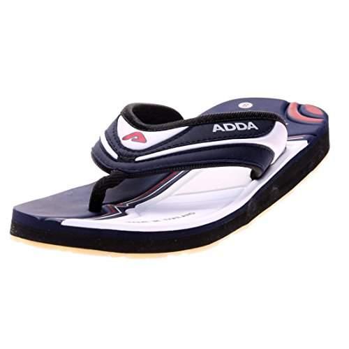 Adda Men's Blue White Synthetic Slipper