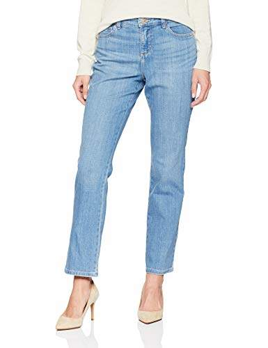 Lee Womens Petite Instantly Slims Classic Relaxed Fit Monroe Straight Leg Jean