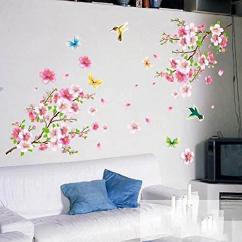 Buy Tradico Wall Stickers Graceful Peach Blossom Wall Stickers Romantic Living Room Decor Features Price Reviews Online In India Justdial