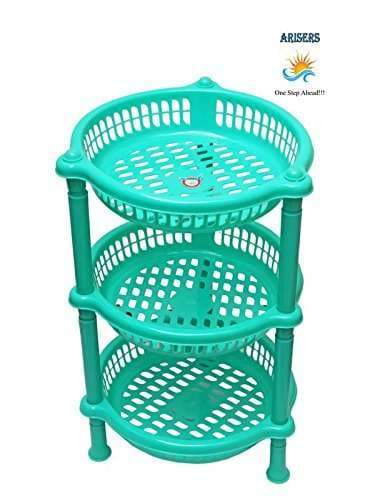 Buy Arisers 3 Layer Round Plastic Fruit And Vegetable Kitchen Basket Storage Household Stand Organizer For Kitchen Red Features Price Reviews Online In India Justdial