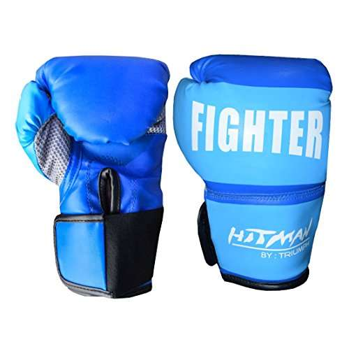 Buy Hitman Gb04580 Synthetic Leather Fighter Boxing Gloves Medium Blue Features Price Reviews Online In India Justdial
