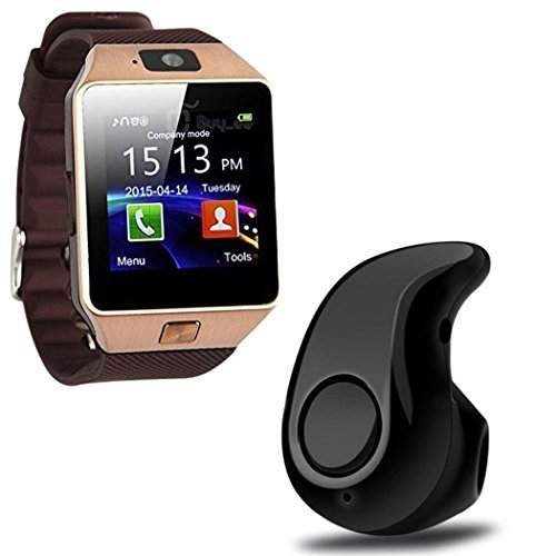 Buy Elevea Bluetooth Smart Watch With Camera Amp Mini Wireless Bluetooth Headset With Mic For All Latest Smartphone Iphone Device Features Price Reviews Online In India Justdial