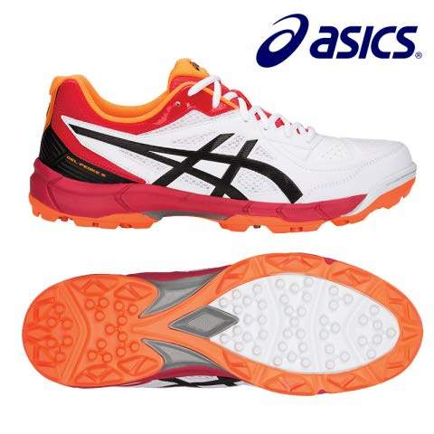 ASICS Men's White/Black Cricket Shoes-10 UK 45 EuroP613Y.100-10-WHITE/BLACK