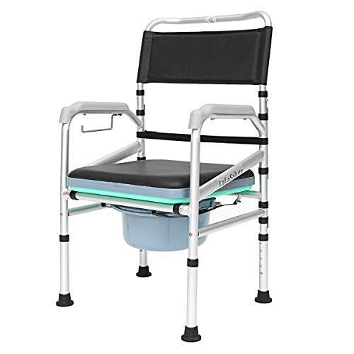 Buy Hitsan Incorporation Aluminum Alloy Elders Patient Commode Chair Potty Chair Folding Anti Slip Toilet Bathroom Chair Color Black Features Price Reviews Online In India Justdial