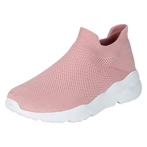 RLO0286 Peach Nordic Walking Shoes-3 UK