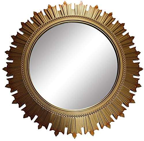Buy Sanwish Designer Wall Decor Mirrors For Living Hall Dinning Room Bed Room And Bath Rooms Size 43x43 Cms Gold Colour Features Price Reviews Online In India Justdial