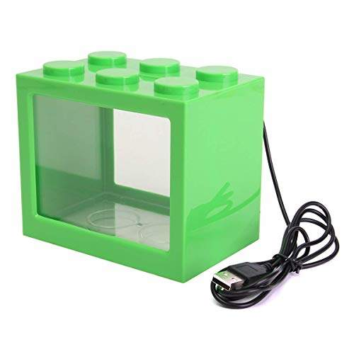 Buy Slb Works Mini Usb Led Light Clear Fish Tank Mini Aquarium Box Bettas Office Desktop Decor Color Green Features Price Reviews Online In India Justdial