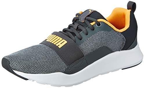 Wired Knit Black-Orange Pop Sneakers-6