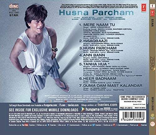 Buy Zero Hindi Audio Cd New 2019 Hit Songs Features Price Reviews Online In India Justdial View extensive collection of hindi songs starting with a. zero hindi audio cd new 2019 hit songs