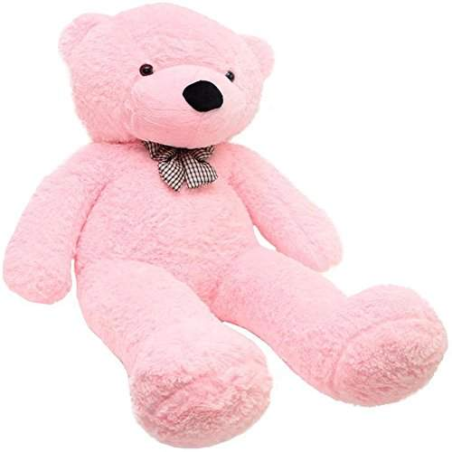 Buy Jms Soft Teddy Bear Birthday Gift For Girlfriend Wife Happy Birthday Teddy Soft Toy 5 Feet Pink 149cm Features Price Reviews Online In India Justdial