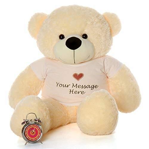 Anxiety Stuffed Animal, Buy Avshub 5 Feet Personalized Stuffed Spongy Huggable Cute Panda Teddy Bear Cream Features Price Reviews Online In India Justdial