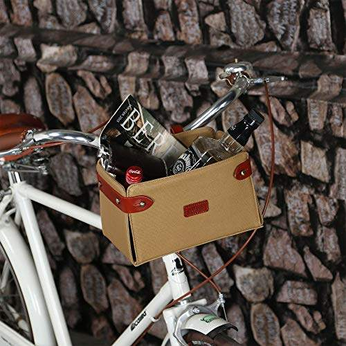 Buy Tourbon Outdoor Bicycle Front Basket Bag Frame Tube Handlebar Bag Brown Canvas Bike Cycling Pannier Case Features Price Reviews Online In India Justdial