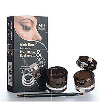 Makeup Kit 2in1 Black Brown Waterproof