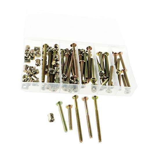 Buy Homyl Bolts Nuts Kit M6 Hex Socket Head Cap Screws Nuts 100pcs For Crib Bunk Bed Furniture Cot Barrel Bolt Nuts Hardware Replacement Kit Features Price Reviews Online In India