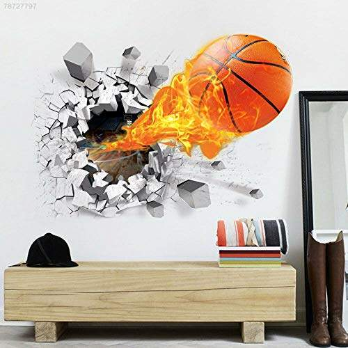 Buy Electroprime B914 3d Basketball Removable Wall Stickers Home Living Room Decor Bedroom Decals Features Price Reviews Online In India Justdial