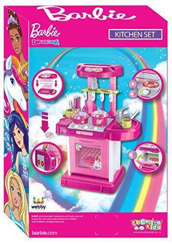Buy Barbie Kids Luxury Battery Operated Kitchen Super Set Features Price Reviews Online In India Justdial