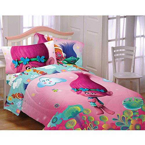 Sheets 5pc Bedding Set Twin Full Size, Trolls Queen Bedding