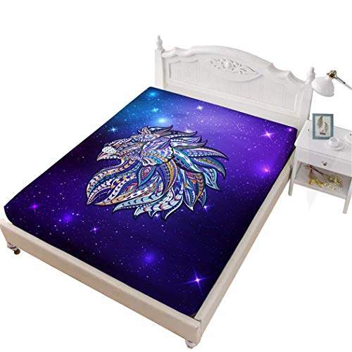 Buy Jessy Home Lion Bed Fittied Sheet Full 3d Bedding Bedroom Decor Gifts For Girls Purple Features Price Reviews Online In India Justdial