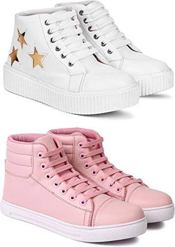 White Casual Sneakers Sports Shoes