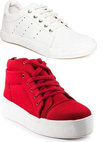 White Casual Sneakers Girls Shoes