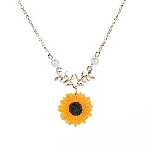 Sunflower Yellow and Lapis Necklace