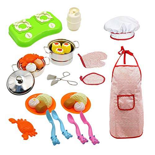 Buy Nellnissa 30pcs Set Stainless Steel Mini Kitchen Toys Kids Pretend Play Toy B Features Price Reviews Online In India Justdial