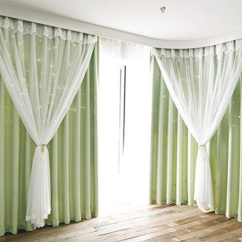 Coromose Blackout Curtain Hollowed, Double Curtains For Living Room