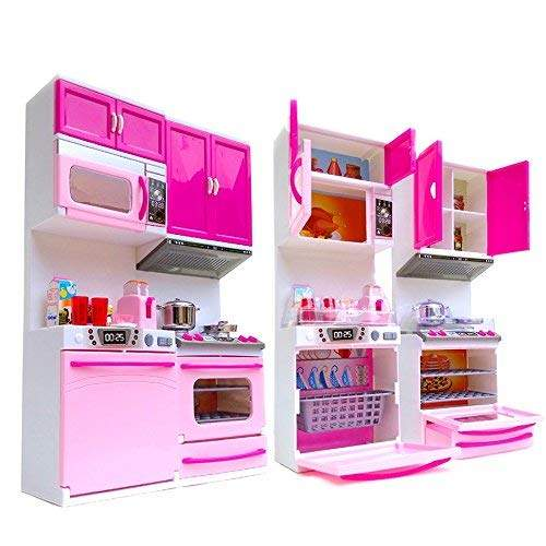Buy Acg 2 Fold Plastic Kitchen Set Toy Pink Features Price Reviews Online In India Justdial