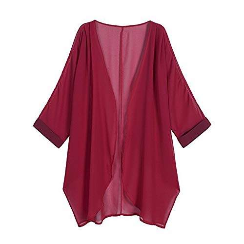 Buy Dishykooker Women Chiffon Pure Color Sunshine Proof Summer Fashion Loose Tops Wine Red S Features Price Reviews Online In India Justdial