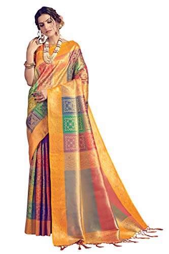 DesiButiks Party Wear Magnificent Grey Banarasi Silk Saree
